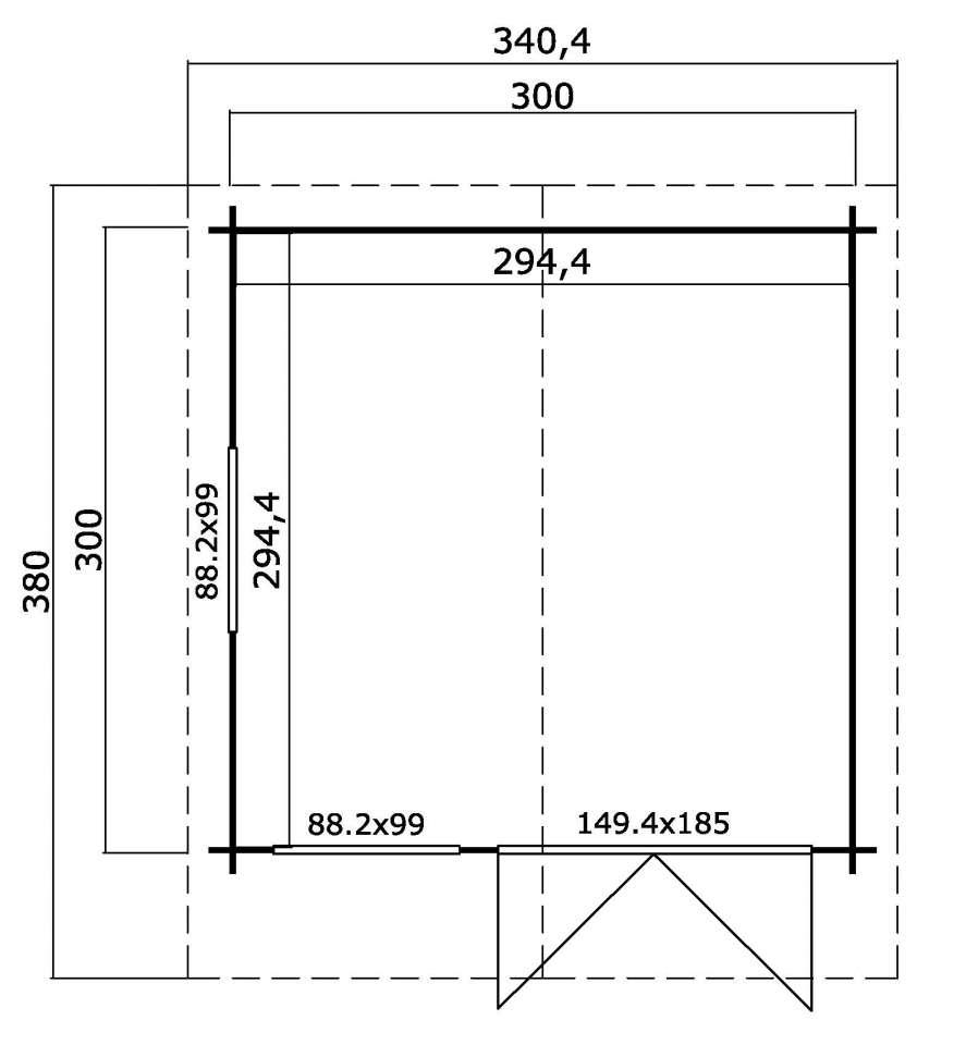 lasita maja gartenhaus finn 31 gartenhaus. Black Bedroom Furniture Sets. Home Design Ideas