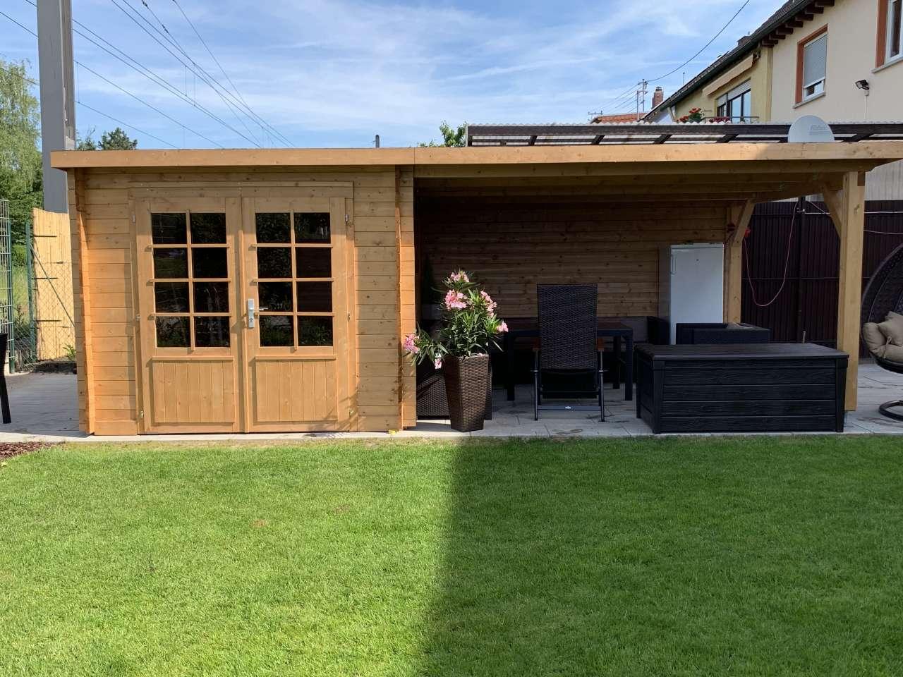 Flachdach Palmako Gartenhaus Ella 6,9+10,0 m²