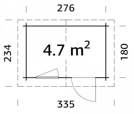 Palmako Gartenhaus Klara 4,7 m²