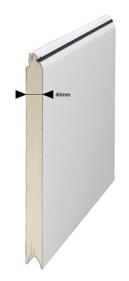 Garagentor Sektionaltor 40mm gedämmt Sicke Woodgrain anthrazit