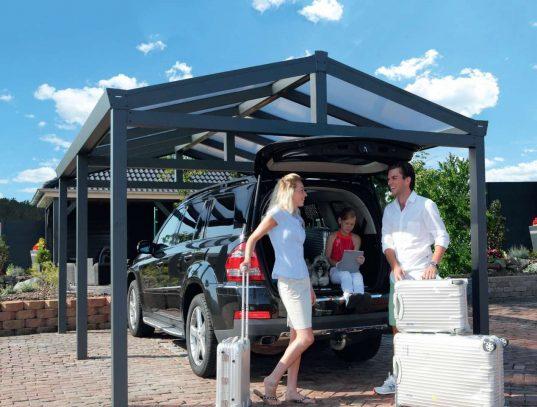 Aluminium Carport mit Satteldach