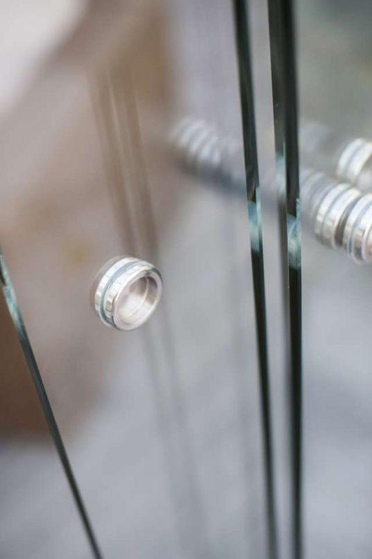 Glasschiebewandsystem 5-spurig mit 8mm Scheiben