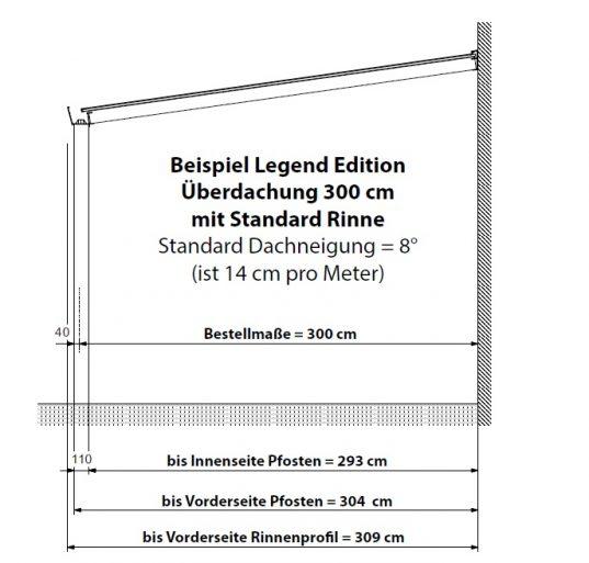 Alu Terrassenüberdachung Legend 16 mm Polycarbonat