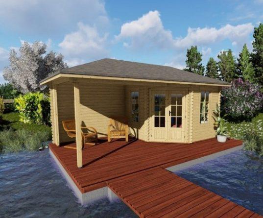 5 Eck Gartenhaus York 49 mit Terrasse