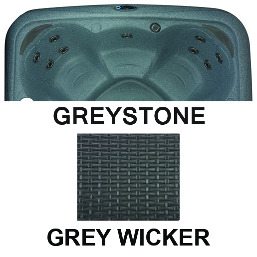 Whirlpool Dream Maker Stonehenge EZL Spa Grey Wicker