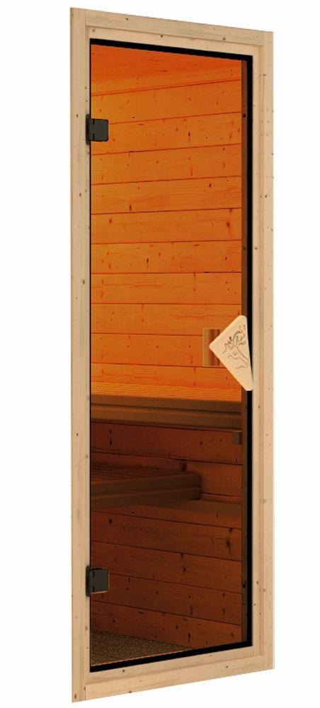 Karibu Plug & Play Sauna Ronja mit Fronteinstieg 38 mm