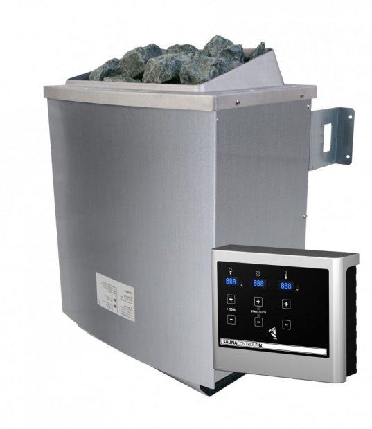 Saunaofen 4,5 kW mit externer Steuerung EASY inkl. Steinen