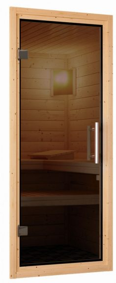 Türpaket 68 mm Sauna Modern Anthrazit - Graphit