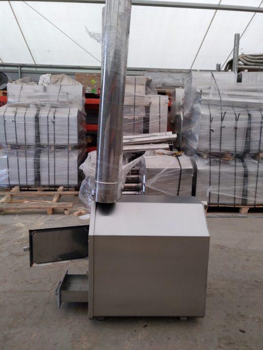 Holz Außenofen für Badebottich 25 KW