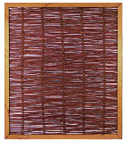 FAKO Weidengeflechtzaun mit umlauf. Rahmen 120 x 140 cm