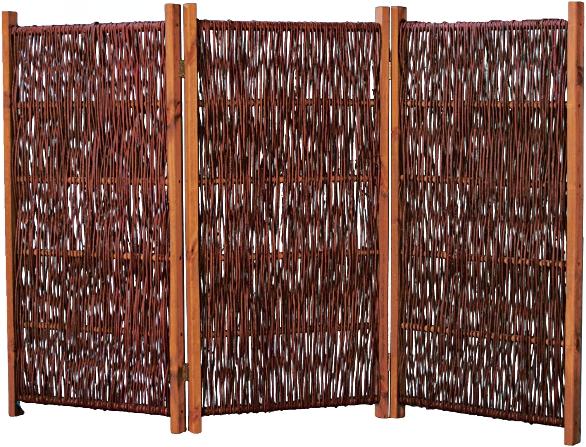SOFIA Paravent aus Weide 180 x 120 cm (3x 60 x 120 cm)