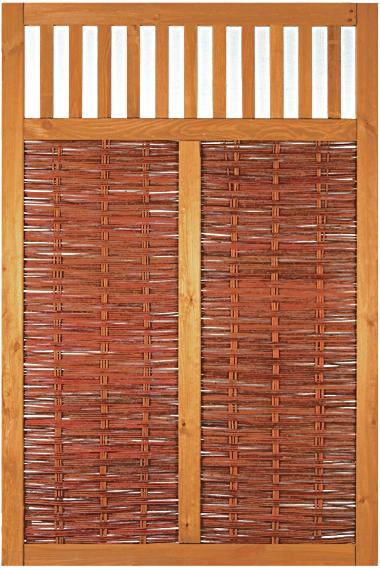 VESUV Weidengeflechtzaun 120 x 180 cm braun gebeizte Weide