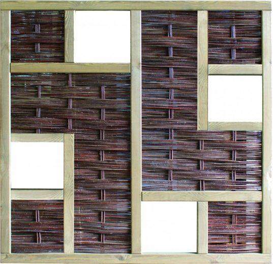 LABO-3D Weidengeflechtzaun 180 x 180 cm, 4 Fenster
