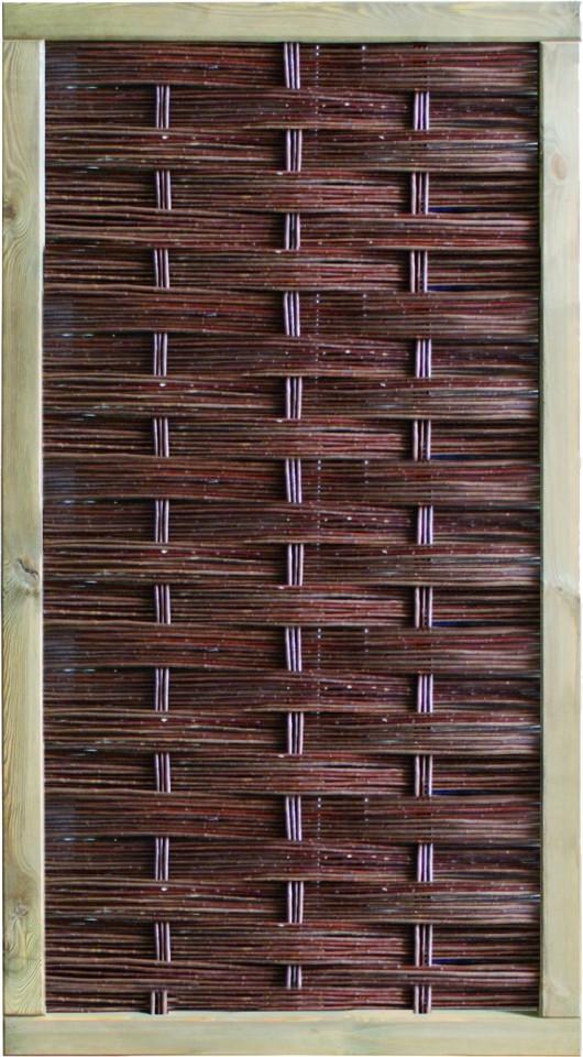 LABO-3D Weidengeflechtzaun 94 x 180 cm, geschlossen