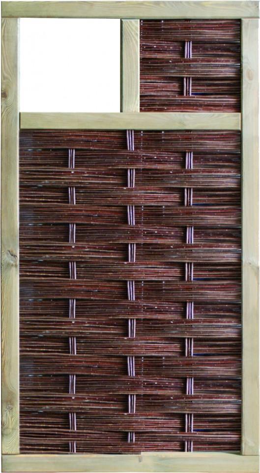 LABO-3D Weidengeflechtzaun 94 x 180 cm, 1 Fenster oben