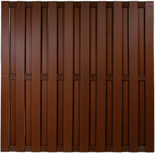 SHANGHAI-Serie braun 180 x 180 cm, WPC-Bretterzaun