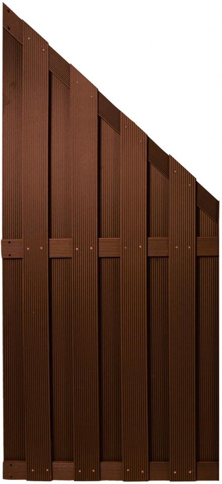 SHANGHAI-Serie ECKE braun 90 x 180/90 cm, WPC-Bretterzaun