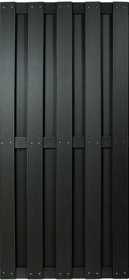 SHANGHAI-Serie anthrazit 90 x 180 cm, WPC-Bretterzaun