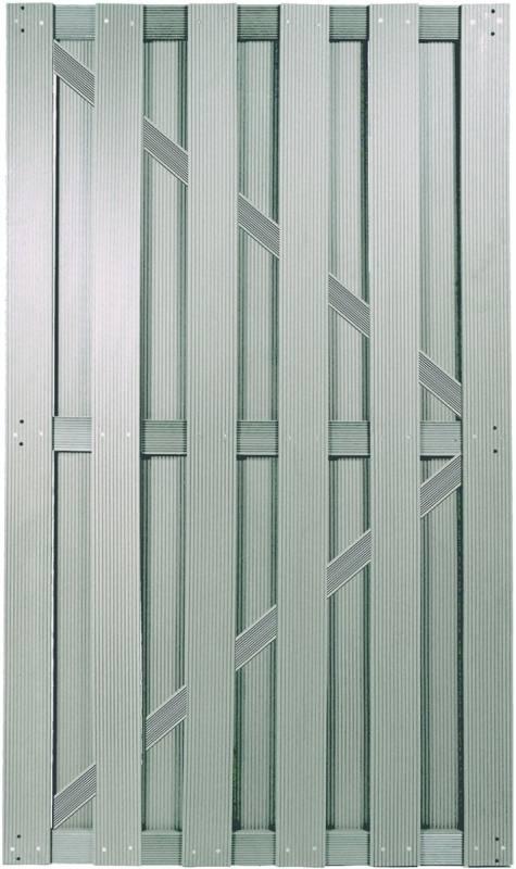 SHANGHAI-Serie TÜR silbergrau 90 x 180 cm, WPC-Brettertür
