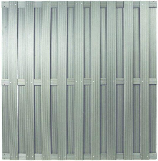 SHANGHAI-Serie silbergrau 180 x 180 cm, WPC-Bretterzaun