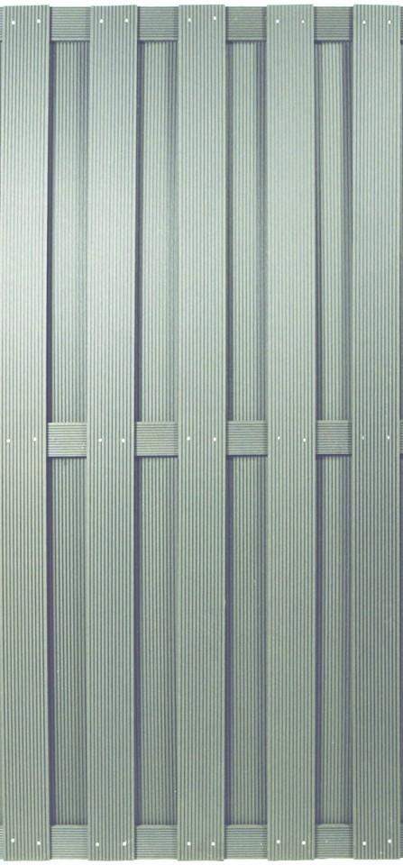 SHANGHAI-Serie silbergrau 90 x 180 cm, WPC-Bretterzaun