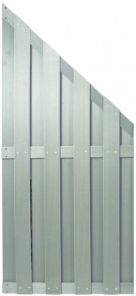 SHANGHAI-Serie silbergrau 90 x 180/90 cm, WPC-Bretterzaun