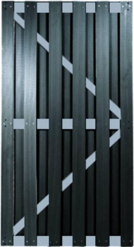KANTON-Serie TÜR ALU/Anthrazit 90 x 180 cm, WPC-Brettertür
