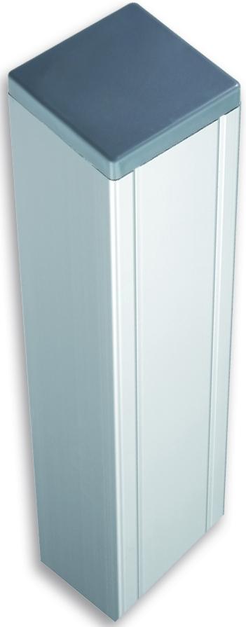 KANTON/SHANGHAI-Serie Pfosten 88 x 88 x 2720 mm, ALU-Silber