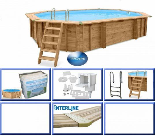 Interline Holzpool Java 640x400x138 cm