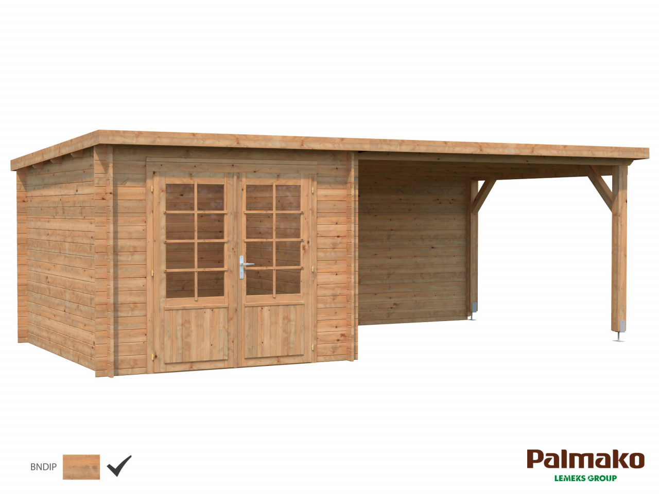 Flachdach Palmako Gartenhaus Ella 8,7+10,0 m²