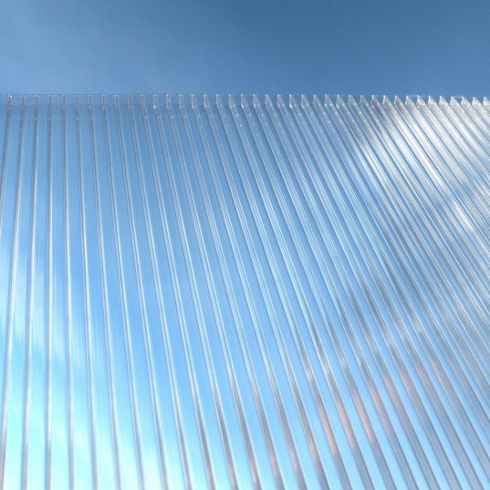 Terrassendach Bausatz HD 5 Polycarbonat transparent Alu-Stützen anthrazit