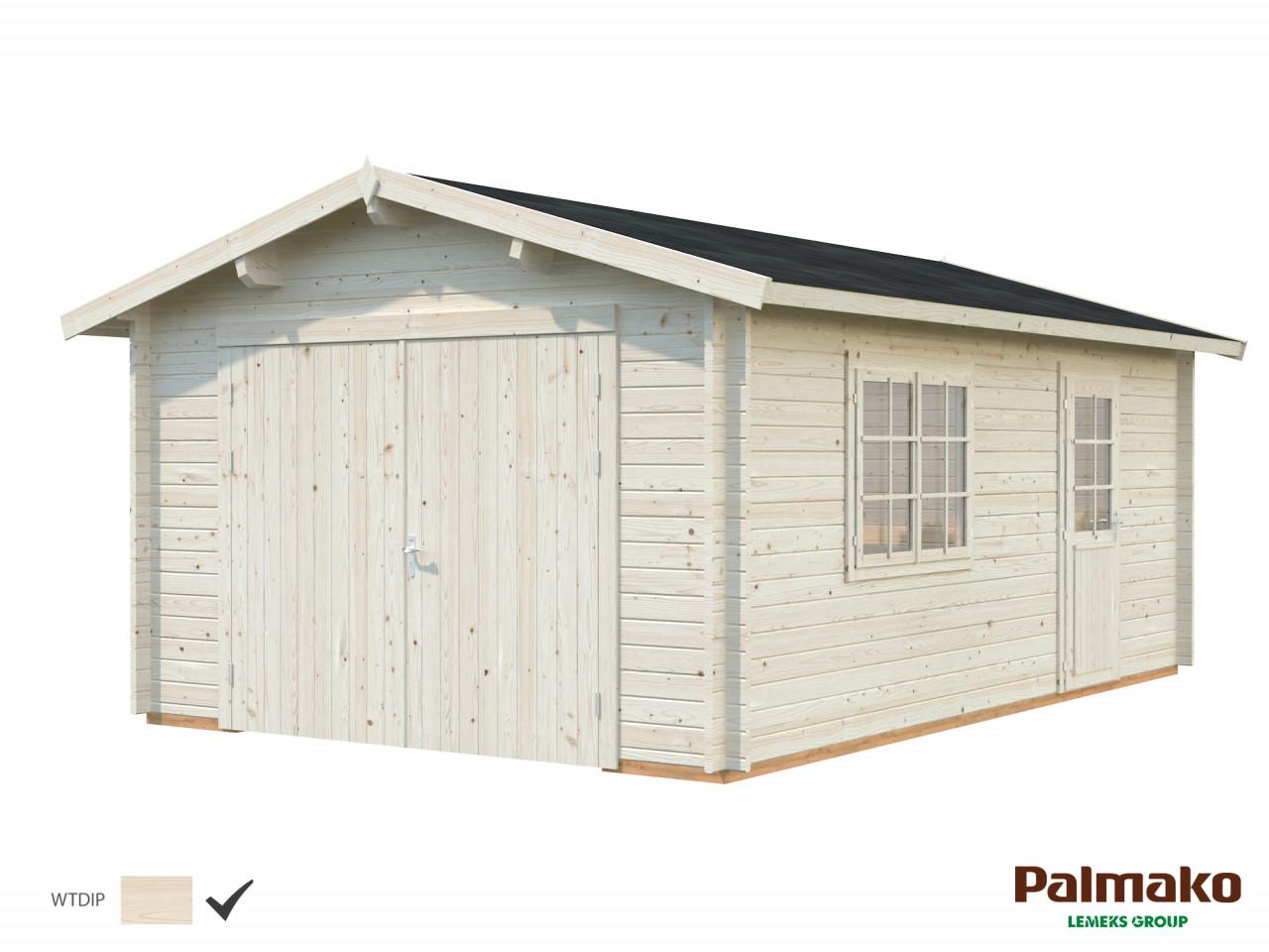 Palmako Holzgarage Roger 19,0 m² mit Holztor