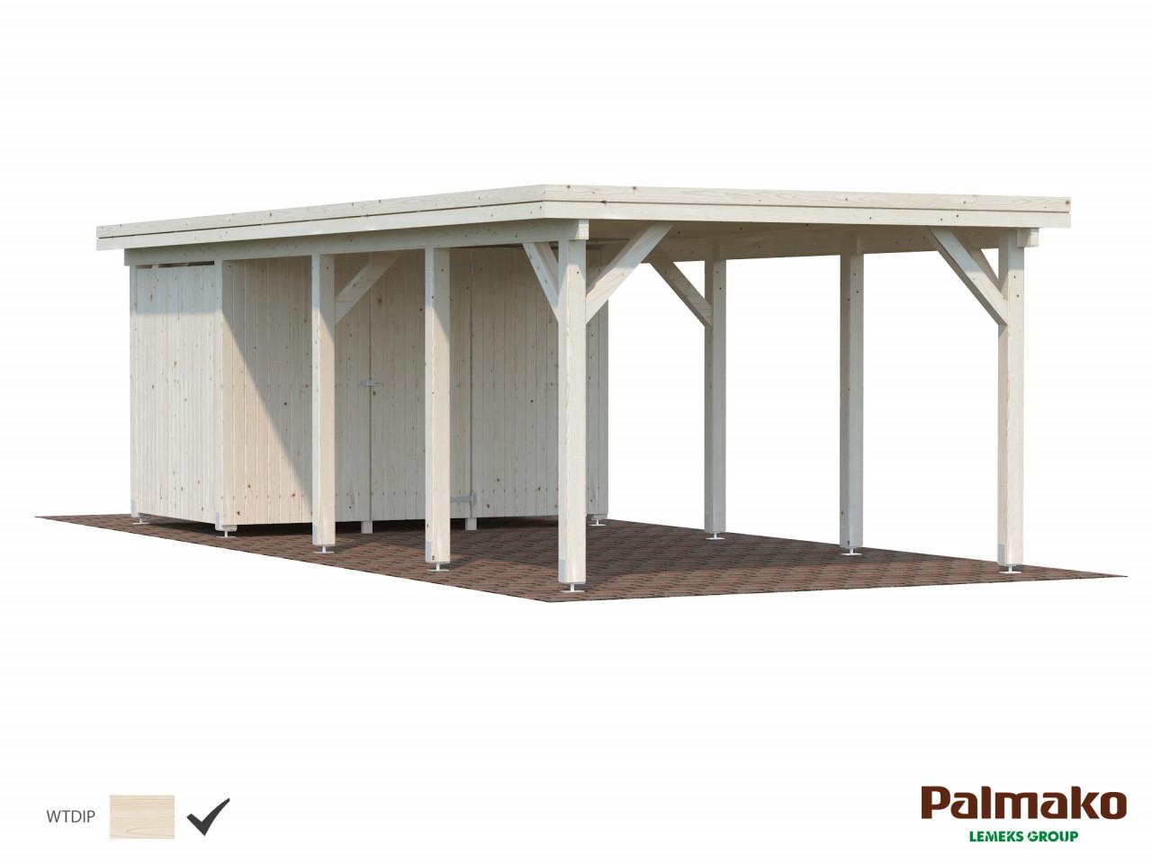 Palmako Holzcarport Karl 23,1 m²