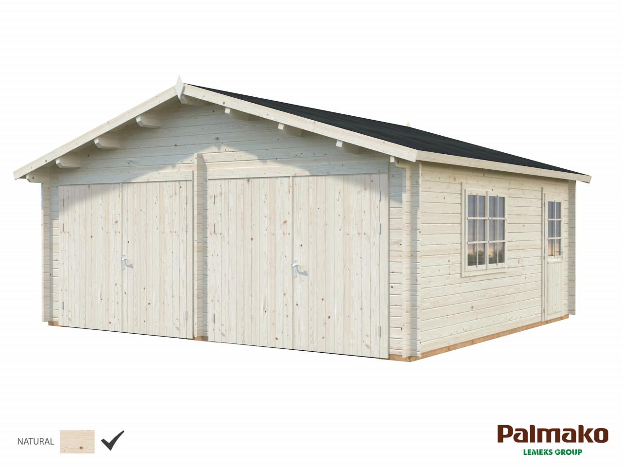 Palmako Holzgarage Roger 28,4 m² mit Holztor