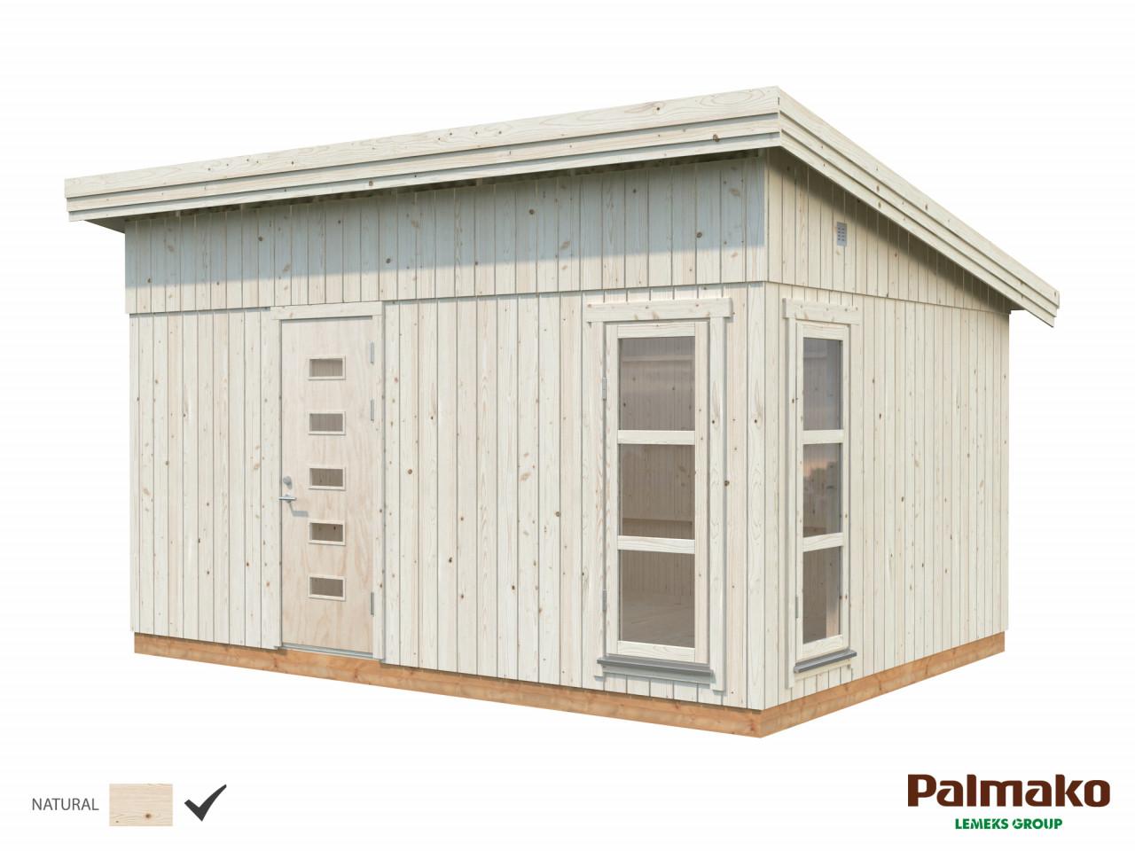 Palmako Nordic Pultdach Gartenhaus Etta 13,8 m²