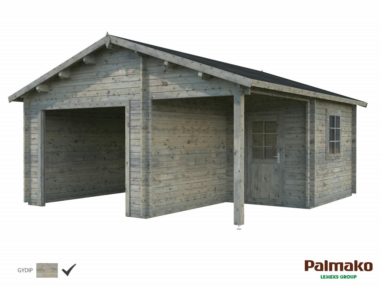 Palmako Holzgarage Roger 21,9+5,2 m²