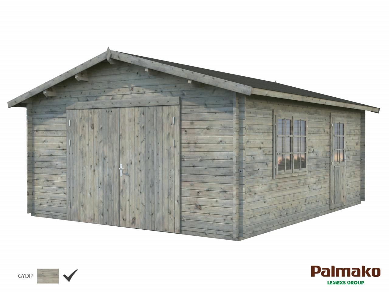 Palmako Holzgarage Roger 23,9 m² mit Holztor