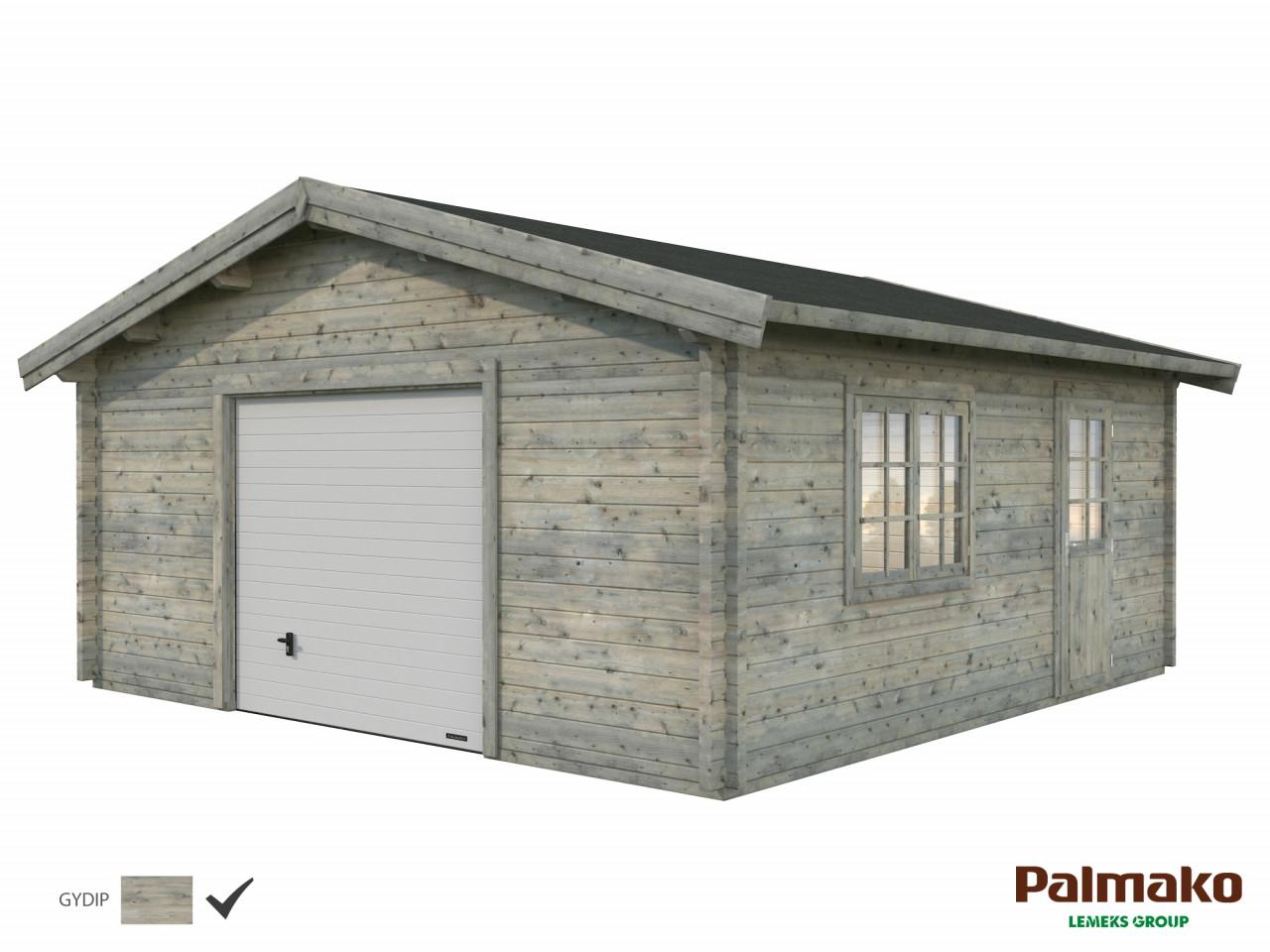 Palmako Holzgarage Roger 27,7 m² mit Sektionaltor