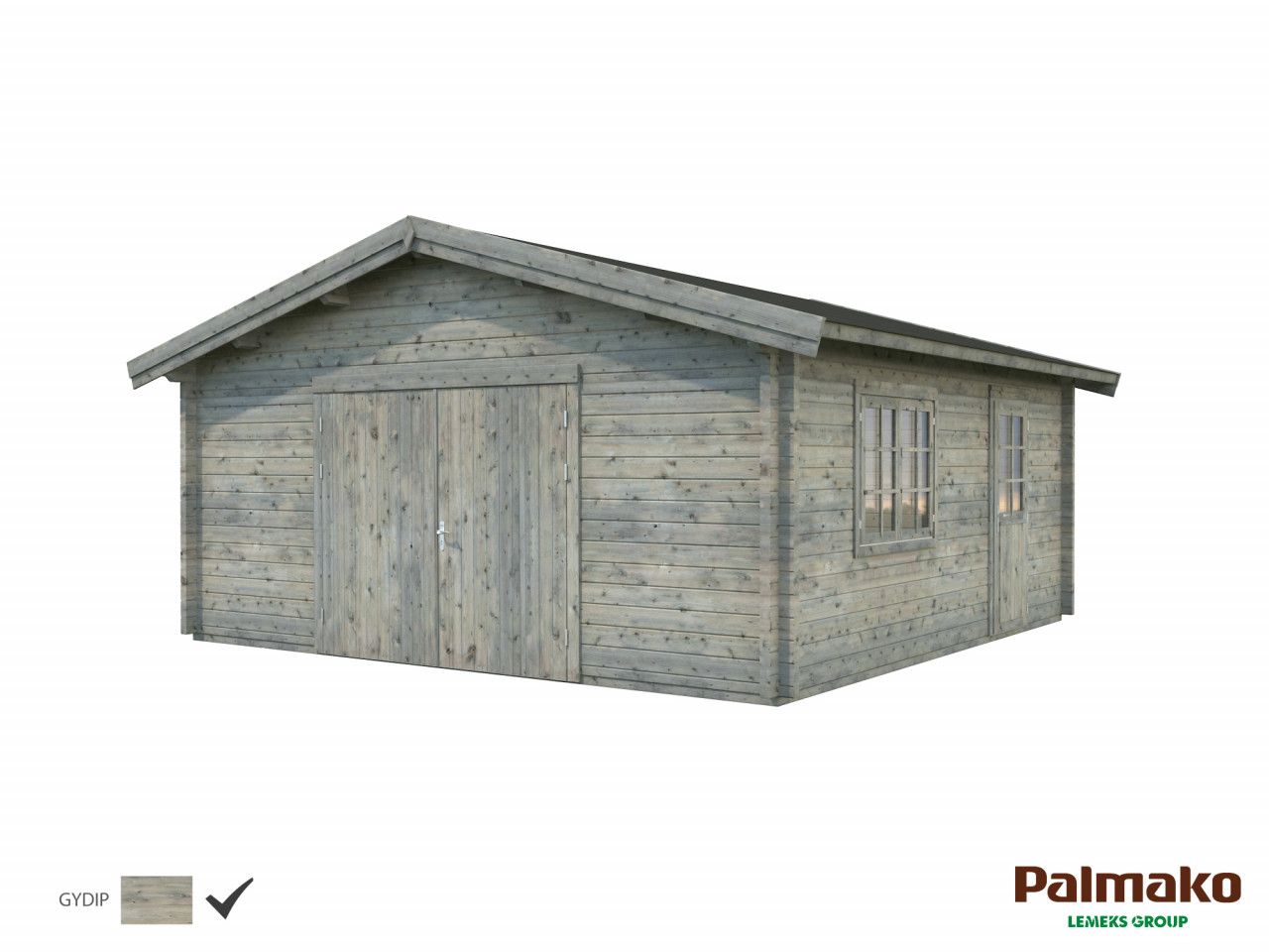 Palmako Holzgarage Roger 27,7 m² mit Holztor