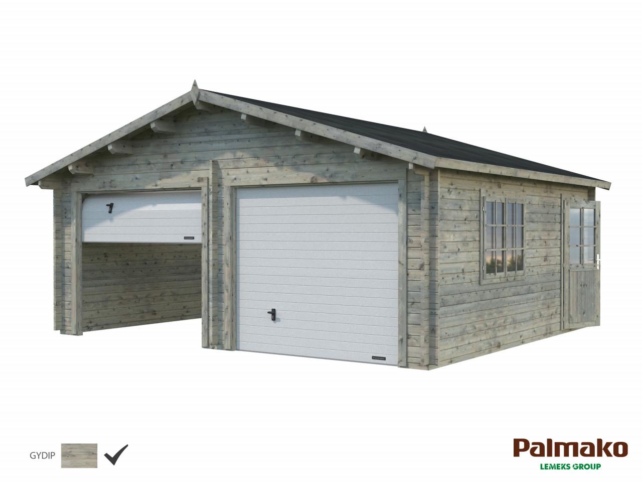 Palmako Holzgarage Roger 28,4 m² mit Sektionaltor