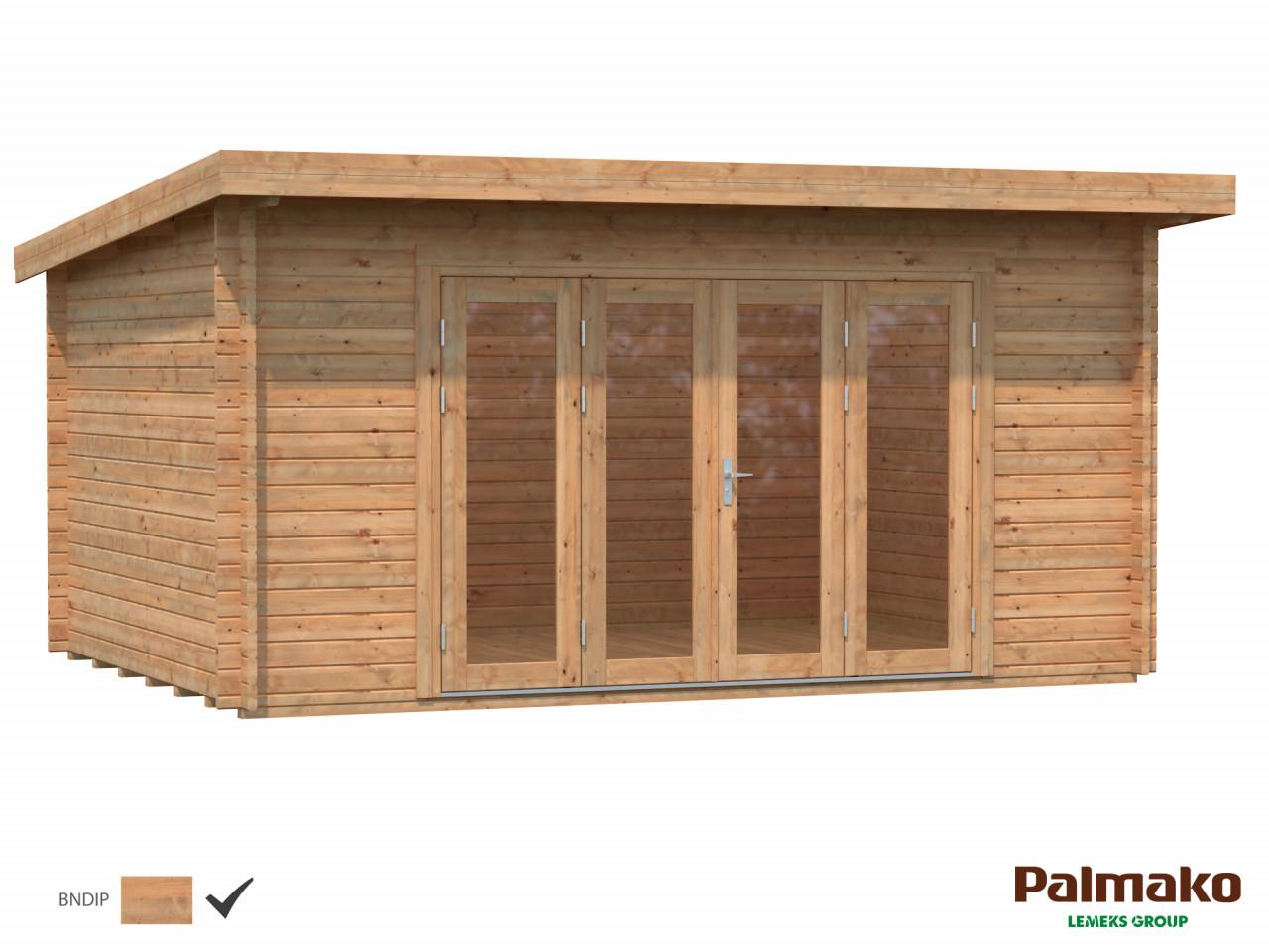 Flachdach Palmako Gartenhaus Lea 14,2 m²