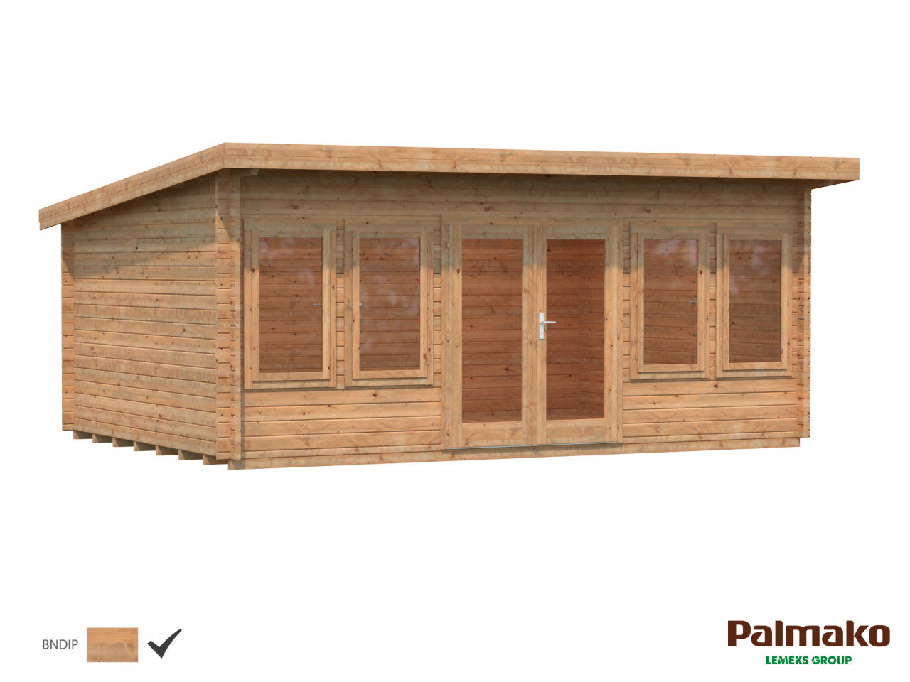 Flachdach Palmako Gartenhaus Lisa 19,4 m²