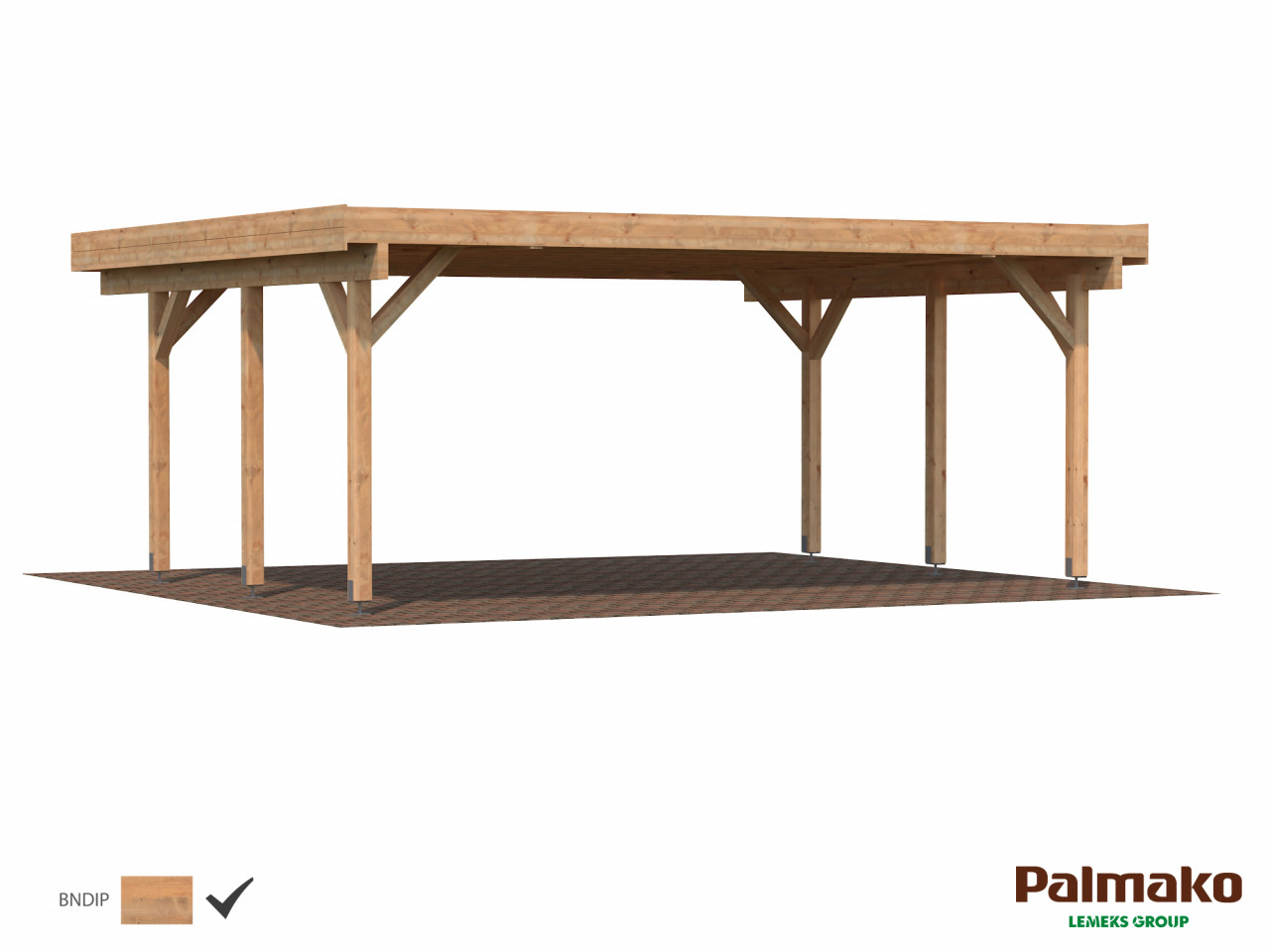 Palmako Holzcarport Karl 20,6 m²