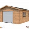 Palmako Holzgarage Roger 23,9 m² mit Sektionaltor