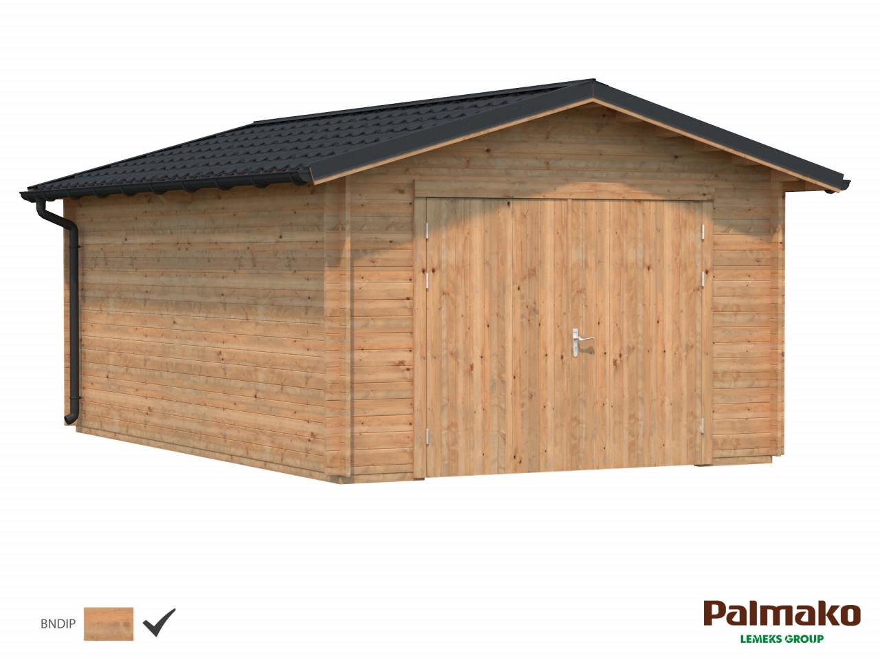 Holzgarage Tomas 19,2 m² mit Holztor