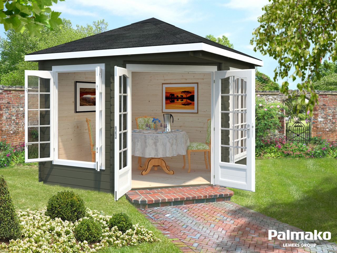 Palmako 5 Eck Gartenhaus Melanie 6,8 m²