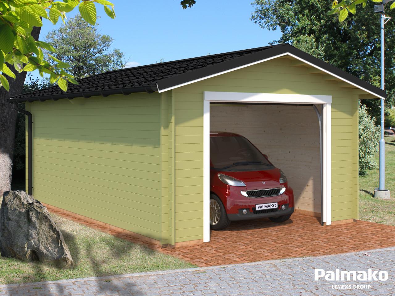 Holzgarage Tomas 19,2 m² mit Sektionaltor