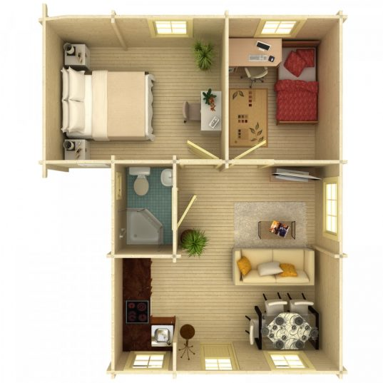 Palmako Ferienhaus Emily 39,2 m²