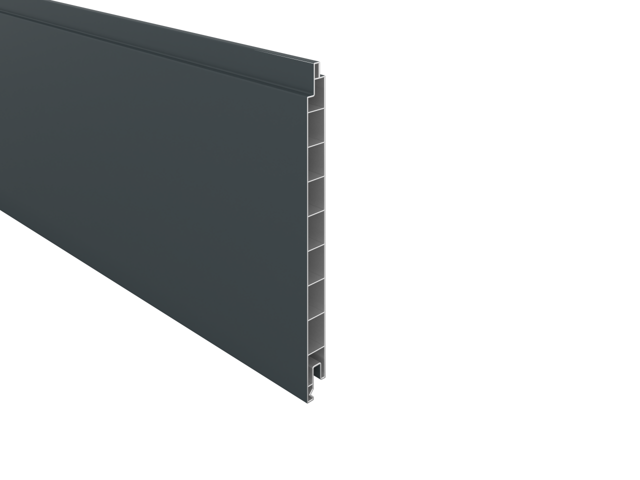 BALTIC-Serie KS-Profilbrett 17 x 200 x 1760 mm, ANTHRAZIT