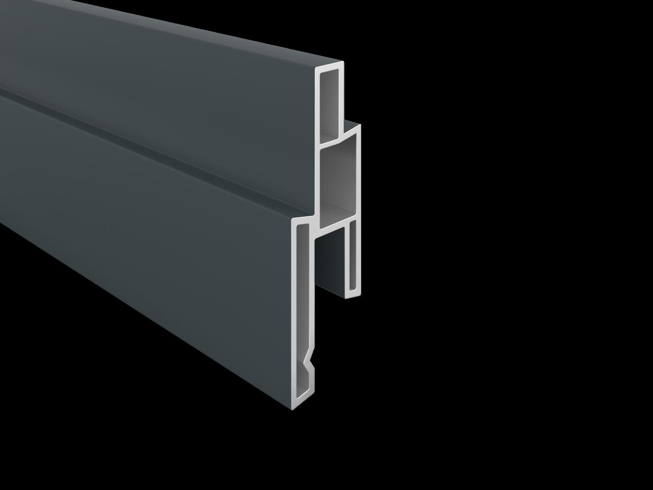 BALTIC-Serie KS-Dekorleiste 14 x 25 x 1760 mm, ANTHRAZIT